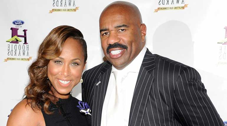 Steve Harvey and Marjorie Bridges Woods